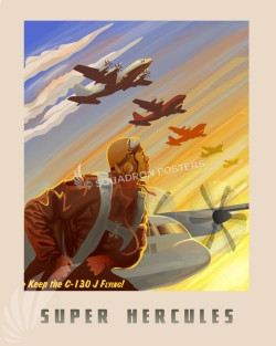 Keep C-130J Flying SP00676 feature-vintage-print