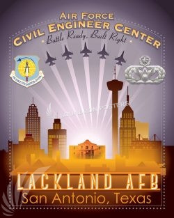 Lackland AFB Air Force Civil Engineer Center Lackland_-_AF_Civil_Engineering_Center_SP01343-featured-aircraft-lithograph-vintage-airplane-poster-art