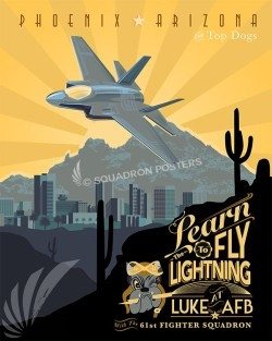 Luke f-35 61st SP00550 military aviation poster art print gift