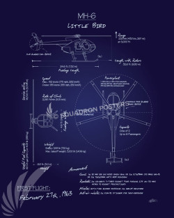 MH-6_Little_Bird_Blueprint_SP00933-featured-aircraft-lithograph-vintage-airplane-poster-art