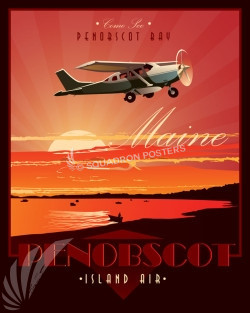 Maine_Cessna_Penobscot_Island_Air_SP00749_featured-aircraft-lithograph-vintage-airplane-poster-art