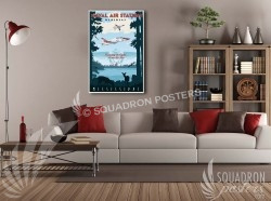 Miss T-45 Meridian 20x30 SP00494-vintage-military-aviation-canvas-travel-retro