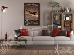 Mountain Home F-15C 390 FS v3 20x30 SP00518-vintage-military-aviation-canvas-travel-retro