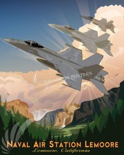 NAS Lemoore F-18 SP00711 feature-vintage-print