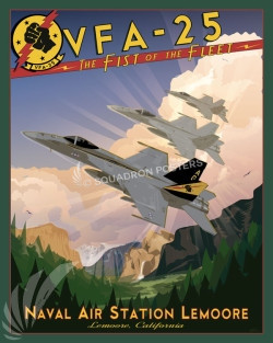 NAS Lemoore F-18 VFA-25 SP00701 feature-vintage-print