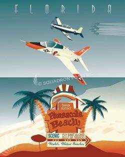 NAS Pensacola VT-86-nas_pensacola_vt-86_t-45_sp01142-featured-aircraft-lithograph-vintage-airplane-poster-art