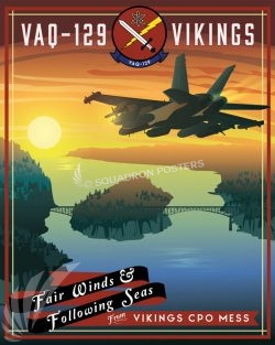 NAS Whidbey Island VAQ-129 CPO MESS nas_whidbey_island_ea-18g_vaq-129_sp01186-featured-aircraft-lithograph-vintage-airplane-poster-art
