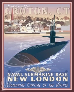 NSBNL Groton CT SP00568-vintage-military-aviation-travel-poster-art-print-gift
