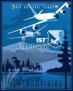 New Hamp KC-135 157th ARW SP00529-vintage-military-aviation-travel-poster-art-print-gift