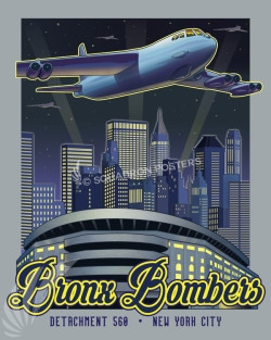 New York City Bronx Bombers SP00731 featured-aircraft-lithograph-vintage-airplane-poster