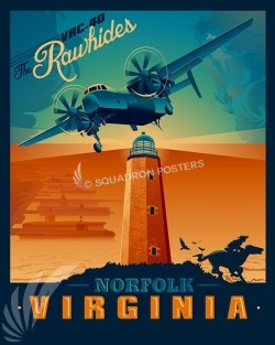 Norfolk-VRC-40-Rawhides-SP00489-vintage-military-aviation-travel-poster-art-print-gift