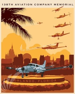 Orlando RU-21A 138th Mem SP00536-vintage-military-aviation-travel-poster-art-print-gift