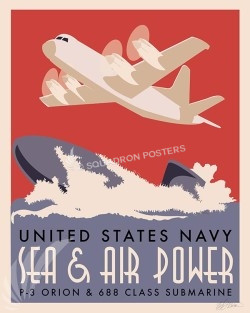 P3 and Sub SP00592-vintage-military-aviation-travel-poster-art-print-gift