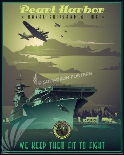 Pearl Harbor Naval Shipyard Pearl_H arbor_SP01359-featured-aircraft-lithograph-vintage-airplane-poster-art
