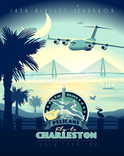 pelicans-charleston-c-17-military-aviation-poster-art-print