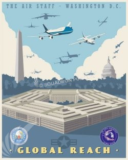 Pentagon SAF/AQQ Global Reach Directorate Pentagon_SAF_HQQ_SP01401-featured-aircraft-lithograph-vintage-airplane-poster-art