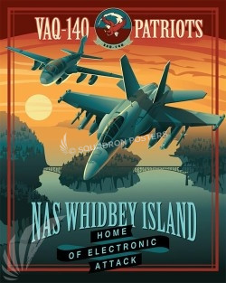 Poster Feature NAS Whidbey EA-18 VAQ-140 16x20 SP00496