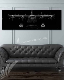 C-130J 86 MXG Jet Black Super Wide Canvas Print Ramstein_86_MXG_C-130J_JET_BLACK_60x20_SP01320-military-air-force-aviation-artwork-poster-jet-black-litho