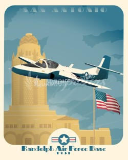 randolph-afb-tweet-t-37-military-aviation-poster-art-print