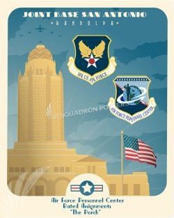Joint Base San Antonio - Randolph, AFPC Randolph_AFB_AFPC_Rated_Assignments_SP01420-featured-aircraft-lithograph-vintage-airplane-poster-art