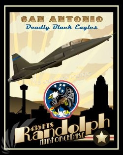 Randolph AFB T-38 435th FTS version 2 Randolph_T-38_435th_FTS_SP01460-featured-aircraft-lithograph-vintage-airplane-poster-art