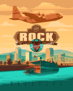 little Rock 50th as C-130 artwork16x20