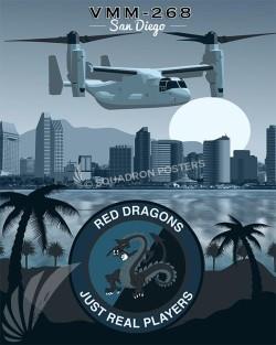 San Diego CV-22 VMM-268 SP00555 military aviation print gift