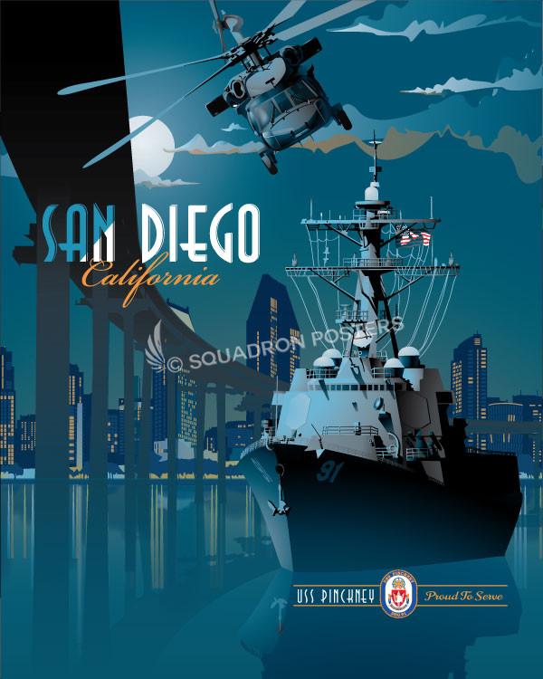 san-diego-ddg-91-uss-pinckney-military-naval-poster-art-print