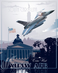 shaw-afb-vintage-military-aviation-poster-art-f-16-fighter