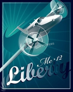 Shockwave MC-12 16x20 SP00577-vintage-military-aviation-travel-poster-art-print-gift