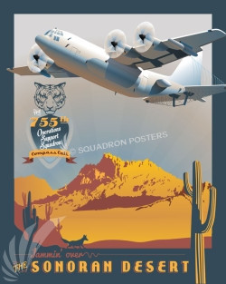 Sonoran Desert 755th OSS EC-130H SP00639 feature-vintage-print