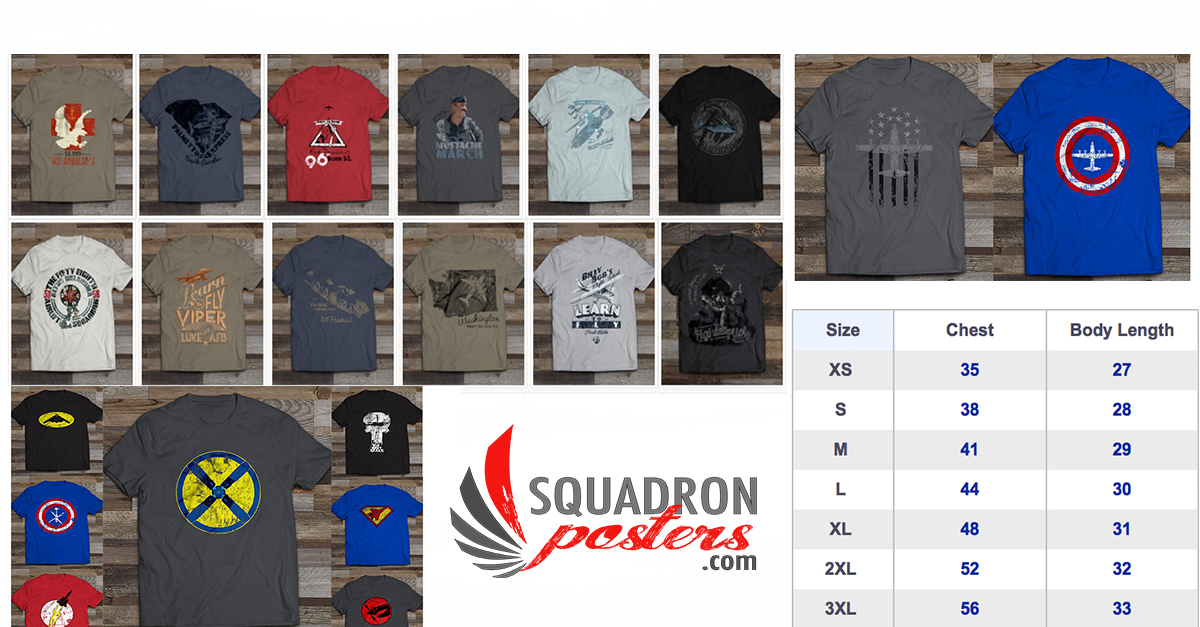 Squadron Posters Graphic T-Shirts
