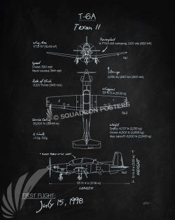 T-6 Texan II Blackboard T-6_Texan_II_Blackboard_v2_SP01261-featured-aircraft-lithograph-vintage-airplane-poster-art