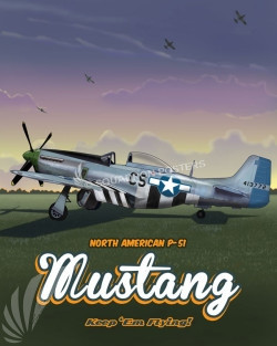 Through_The_Ages_P-51_Mustang_SP00951-featured-aircraft-lithograph-vintage-airplane-poster-art