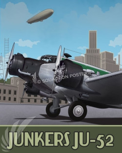Through_the_Ages_JU-52_Junkers_SP00993-featured-aircraft-lithograph-vintage-airplane-poster-art