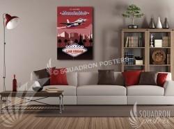 Thunderbirds Vegas 20x30 SP00474-vintage-military-aviation-canvas-travel-retro