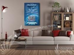 Thunderbirds blue 20x30 SP00473-vintage-military-aviation-canvas-travel-retro