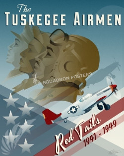 Tuskegee Airmen Red Tails SP00661 feature-vintage-print