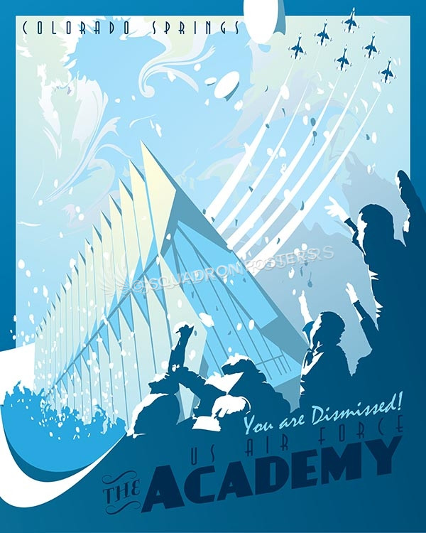 U s air force academy graduates squadron posters for T shirt printing in colorado springs