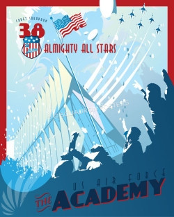 USAFA Air Force Academy 38th CS SP00656 feature-vintage-print