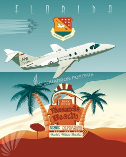 USAF_NAS_Pensacola_SP00802-featured-aircraft-lithograph-vintage-airplane-poster-art
