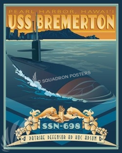 USS Bremerton Hi SP00574-vintage-military-aviation-travel-poster-art-print-gift