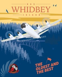 Whidbey Island P-3 VP-46 SP00542-vintage-military-aviation-travel-poster-art-print-gift