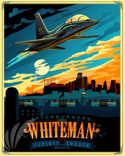 Whiteman AFB T-38 SP00644 military-aviation-feature-vintage-style-print