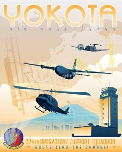 Yokota AB, 374th Operations Support Squadron Yokota_AB_Japan_374th_OSS_SP01358-featured-aircraft-lithograph-vintage-airplane-poster-art