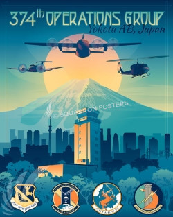 Yokota_C-130H_C-12J_UH-1N_374_OG_SP00998-featured-aircraft-lithograph-vintage-airplane-poster-art