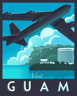 andersen-afb-Guam-B-52-vintage-travel-poster-art
