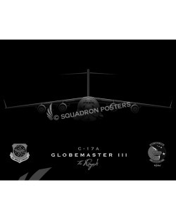C-17 3 AS jet black SP00783-FEAT-jet-black-aircraft-lithograph