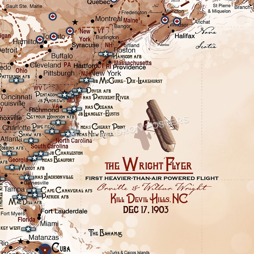 The Aviator S Map Push Pin Travel Map Squadron Posters