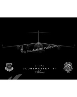 jet black 14th AS SP00807-FEAT-jet-black-aircraft-lithograph